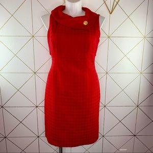 80s does 50s Liz Claiborne Cowl Wiggle Dress